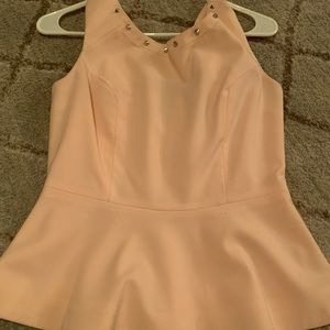 Soft pink peplum top